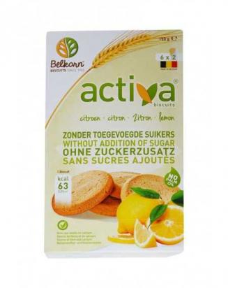 Biscuits au citron sans sucre Activa - 150g BIO - BELKORN