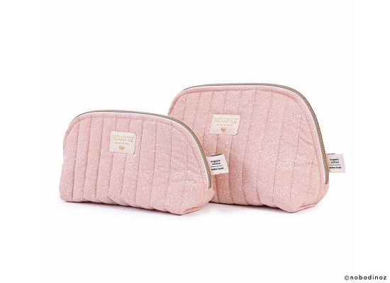 Trousse Holiday Large - White Bubble/Misty pink - Nobodinoz