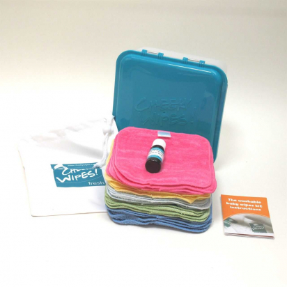 Bambou Rainbow - Lingettes lavables mini kit - Lavande/Camomille - Cheeky wipes