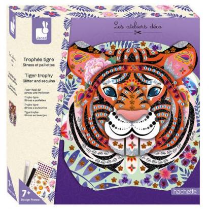 Kit créatif Strass et paillettes Trophée tigre Janod