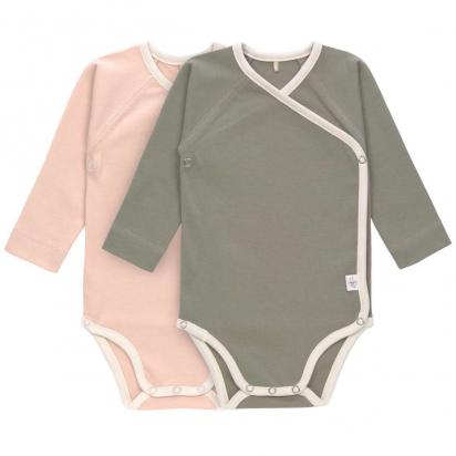 Bodys Bébé (Lot de 2) - Manches Longues GOTS Cozy Colors, rose poudré Lassig