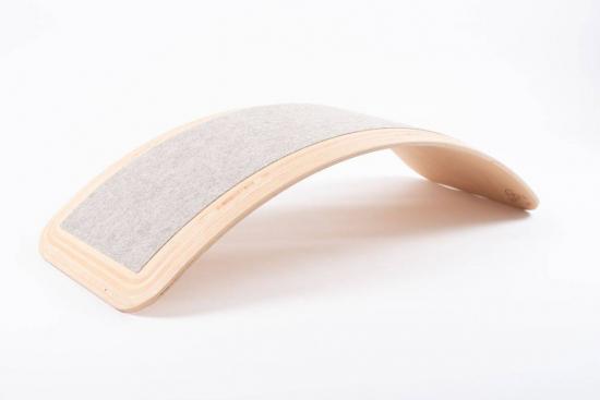 WeRock Board Planche d'équilibre en bois Feutre Okotex Blanc nordique