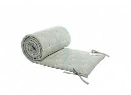 Tour de lit en coton BIO White Gatsby antique green Nobodinoz