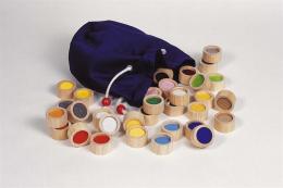 Mémory tactile  des surfaces (Montessori) - 32 pieces