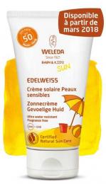 Crème solaire peaux sensibles à l'Edelweiss - SPF50 - 50ML - Weleda
