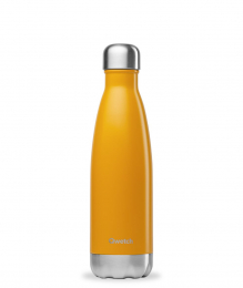 Bouteille Isotherme - 500ml - Jaune safran - Qwetch