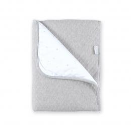 Couverture Kilty doublure gris chiné 75x100cm Bemini
