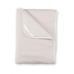 Couverture 75x100cm rayure ecru naturel pady twin jersey Bemini