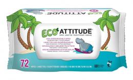 Lingettes humides biodégradables - Attitude
