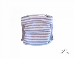 Couche lavable Pants EasyFree Interlock Bleu-gris rayé Popolini