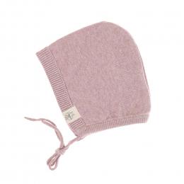 Bonnet tricoté coton bio et soie Garden Explorer Rose clair Lassig