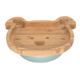 Assiette en bambou avec ventouse - Little Chums Chien - Lassig