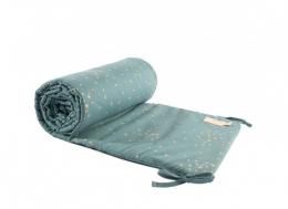Tour de lit en coton BIO - gold confetti/ magic green - Nobodinoz