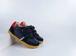 Chaussures Bobux - I-Walk - Riley Navy + Red