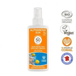 Crème solaire BIO en spray 50SPF Alphanova