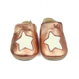 Blublu étoile - Chaussons en cuir naturel antidérapante - Easy peasy