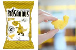 BIOSAURUS - chips de mais au fromage BIO - 50g - vegan sans gluten