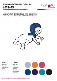 Bonnet cagoule elephant en laine - Manymonths