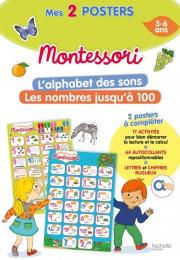 Poster Montessori - L'alphabet des sons + Les nombres jusqu'à 100 Larousse