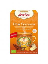 Infusion ayurvédique aux plantes Chaï Curcuma Yogi Tea