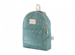 Sac à dos en coton bio Too Cool gold confetti/ magic green Nobodinoz