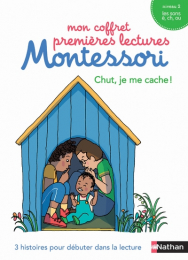 Mon coffret premières lectures Montessori - Chut je me cache - Nathan