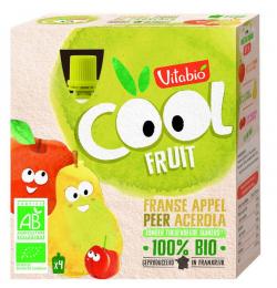 Gourdes de fruits Pomme et poire Vitabio