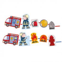 Jeu de laçage Pompiers Haba