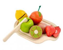 Assortiment de fruits en bois à découper - Plantoys