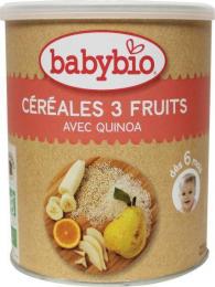 Céréales 3 fruits et quinoa Babybio