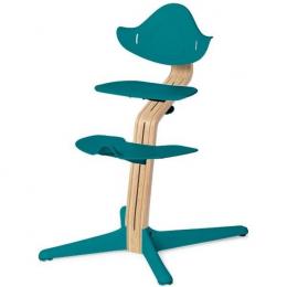 Nomi chaise haute évolutive Chêne clair et Océan
