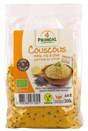 Couscous maïs riz et chia parfumé au citron 300 g bio Priméal