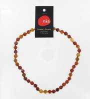 Carnéole  - Collier de pierres perles - Nia