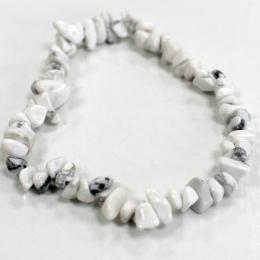Bracelet en Éclat de Pierre - Jaspe Blanc