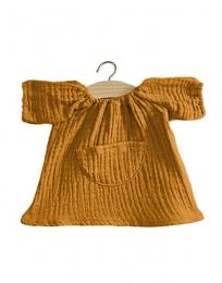 Robe Jeanne gaze de coton Camel  pour poupée 34 cm Minikane Paola Reina