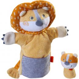 Marionnette Lion et son bébé Haba