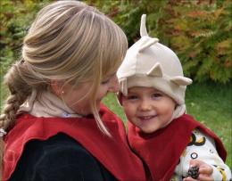 Mam col Dickey en polaire - Autumn Leaf - Mamalila
