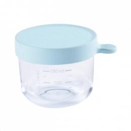 Pot en verre 150 ml bleu ciel Beaba