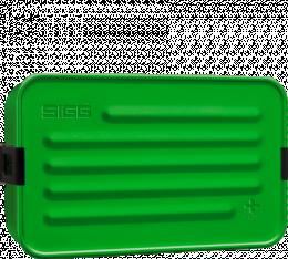 Boîte repas alu L vert avec insert silicone - Sigg