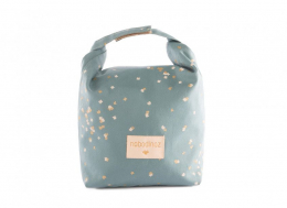 Sac ecolunch bag gold confetti/ magic green Nobodinoz