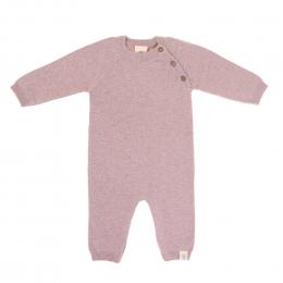 Combinaison tricoté longue coton bio et soie Garden Explorer Rose clair Lassig