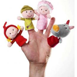 Marionnettes à doigt Petit Chaperon rouge - Lilliputiens