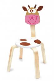 Chaise en bois - Vache Marie - Scratch