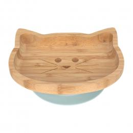 Assiette en bambou avec ventouse - Little Chums Chat - Lassig