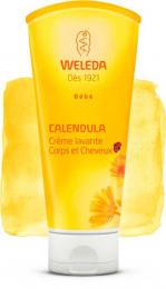 Crème lavante shampoing cheveux et corps - Bébé au Calendula - Weleda