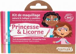Maquillage Kit 3 couleurs Princesse et licorne - Namaki