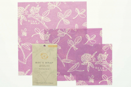 3 emballages Zéro déchet - S-M-L Clover Purple - Bee's Wrap