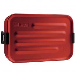Boîte repas alu S rouge avec insert silicone - Sigg