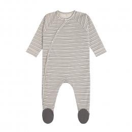 Pyjama bébé GOTS - Cozy Colors, Rayé Gris Anthracite Lassig