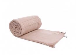 Tour de lit en coton BIO - White bubble/Misty pink - Nobodinoz